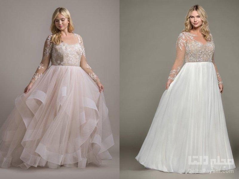 لباس عروس سایز بزرگ پفی