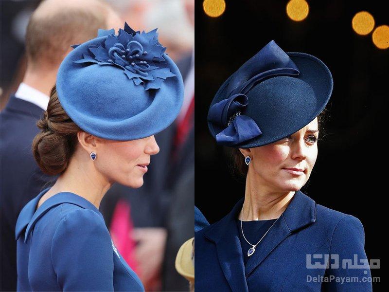 کلاه زنانه مجلسی سرمه ای