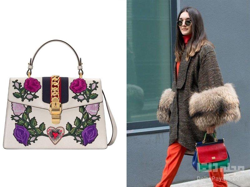 کیف دستی زنانه برای پاییز رنگ درخشان