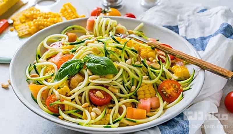 طرز تهیه اسپاگتی کدو