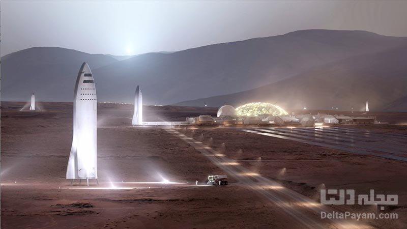موشک استارشیپ نخستین انسان به مریخ