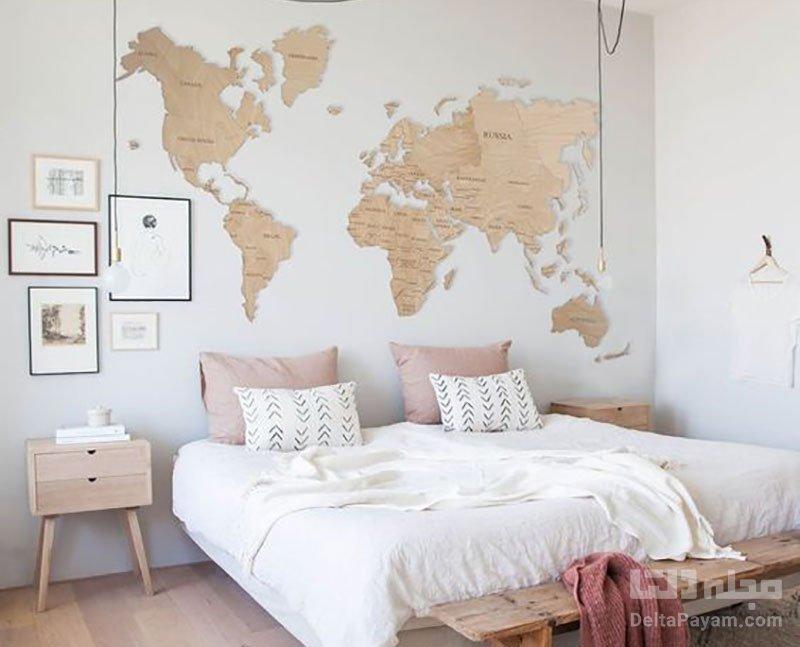 تزیین دیوار اتاق خواب