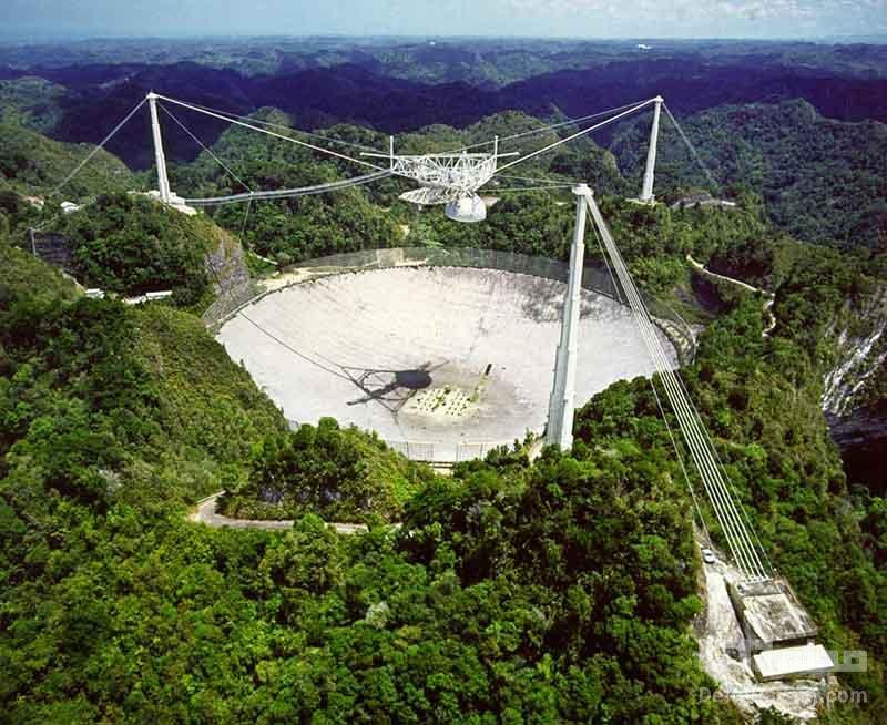 رصدخانه مشهور آرسیبو پس از 57 سال تخریب شد