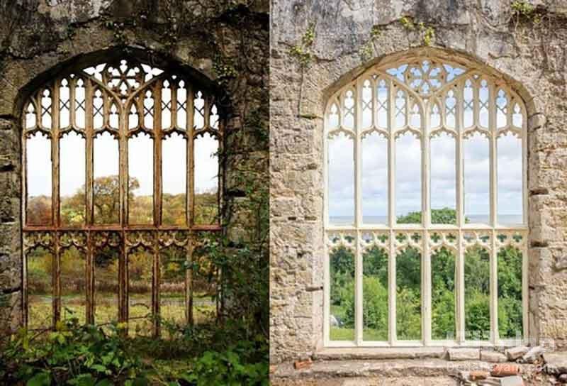 پنجرههای قلعه