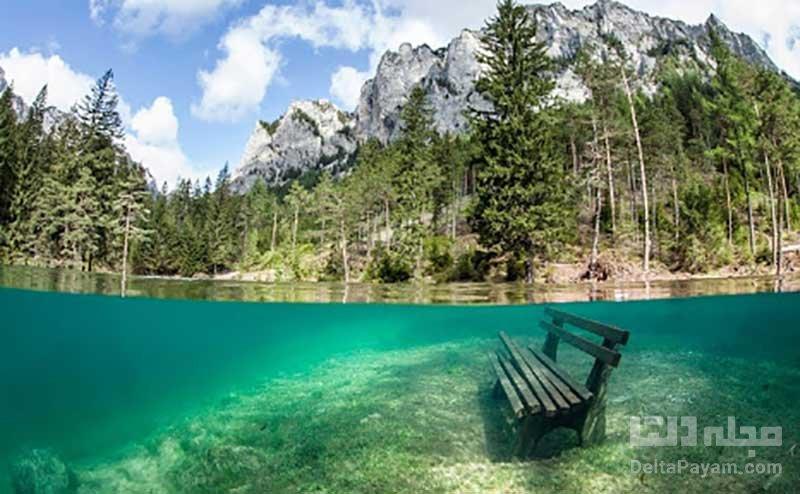 دریاچه شفاف و زیبای گرین