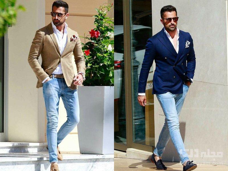 تیپ رسمی مردانه شلوار جین