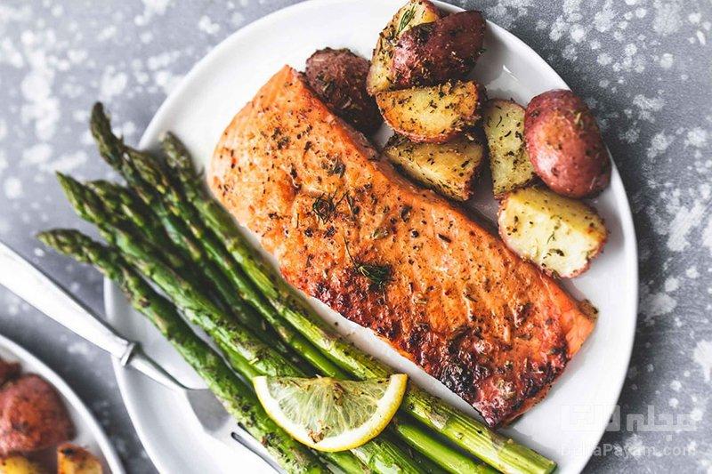 رژیم غذایی کم خونی غذایی دریایی