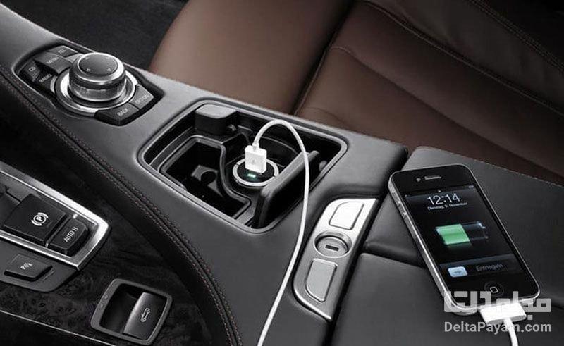 شارژ کردن گوشی در خودرو