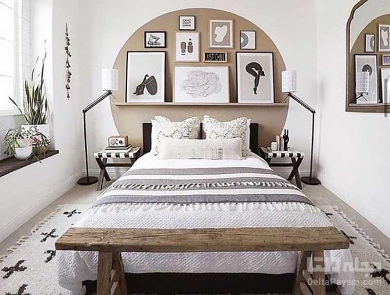 دکور بالای تخت خواب
