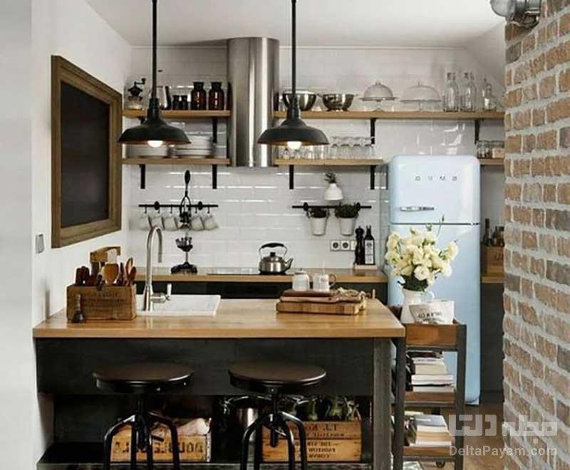 آشپزخانه کوچک منزل