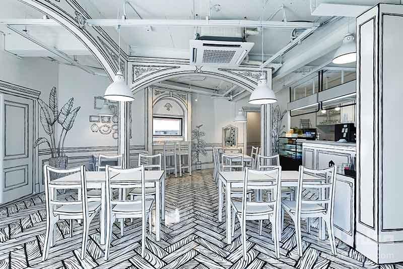 کافه دو بعدی ، طراحی خلاقانه