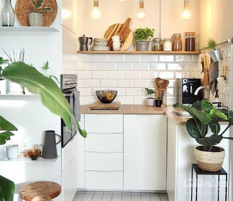 بزرگ تر نشان دادن آشپزخانه کوچک
