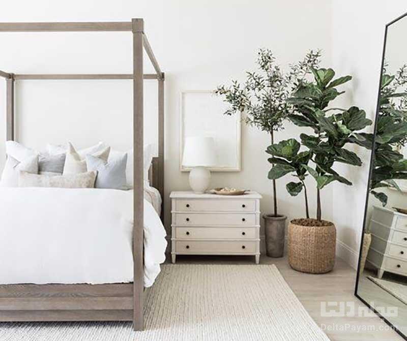 چیدمان تخت خواب در اتاق کوچک