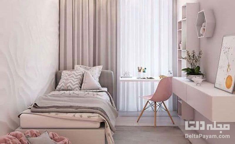 طراحی دکوراسیون اتاق خواب کوچک
