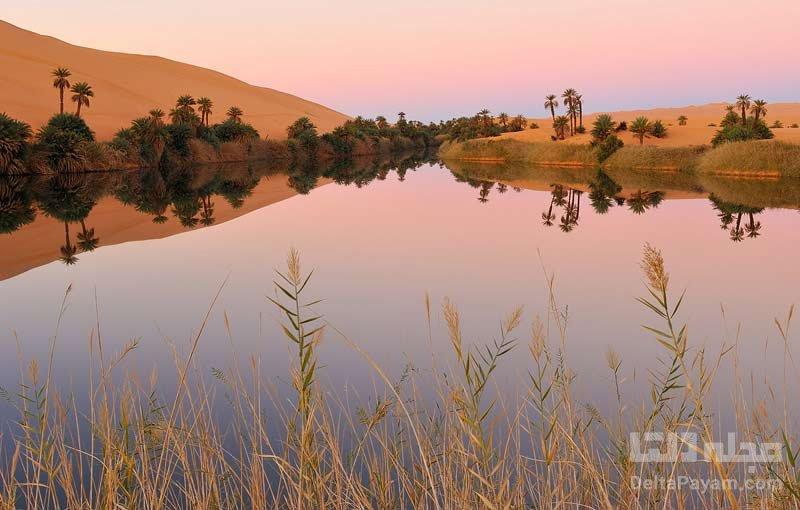 دریاچه های اوباری در صحرای لیبی