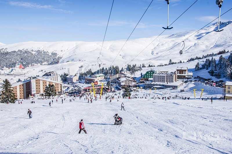 اسکی از تفریحات زمستانی استانبول