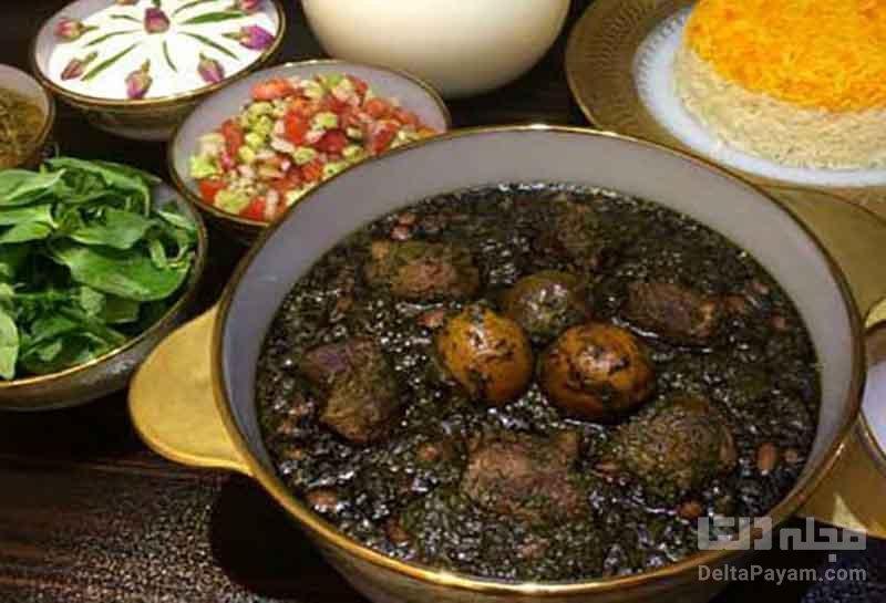 طرز تهیه آبگوشت قرمه سبزی همدانی