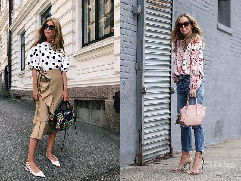 خرید بلوز زنانه طرح دار