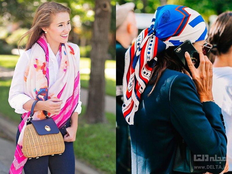 خرید شال و روسری ساتن
