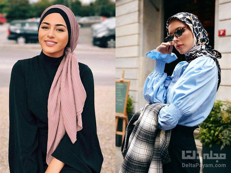 مدل بستن روسری متفاوت