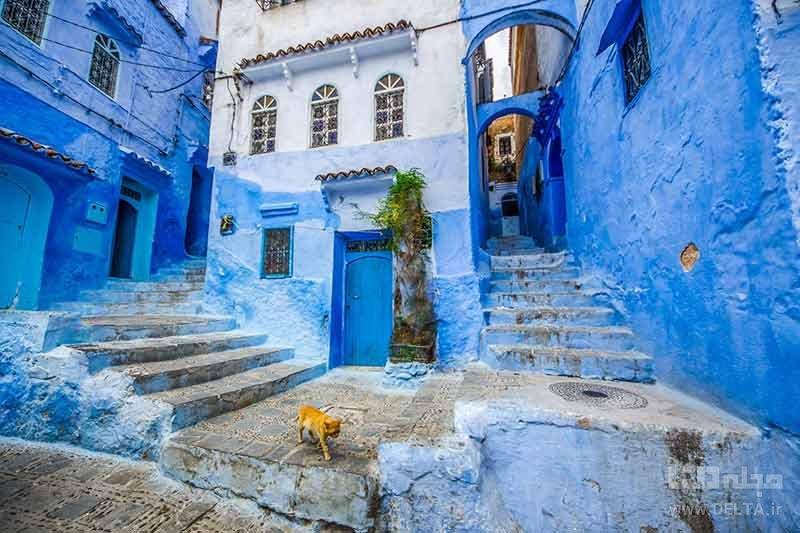 شهر آبی شفشاون از دیدنی های مراکش