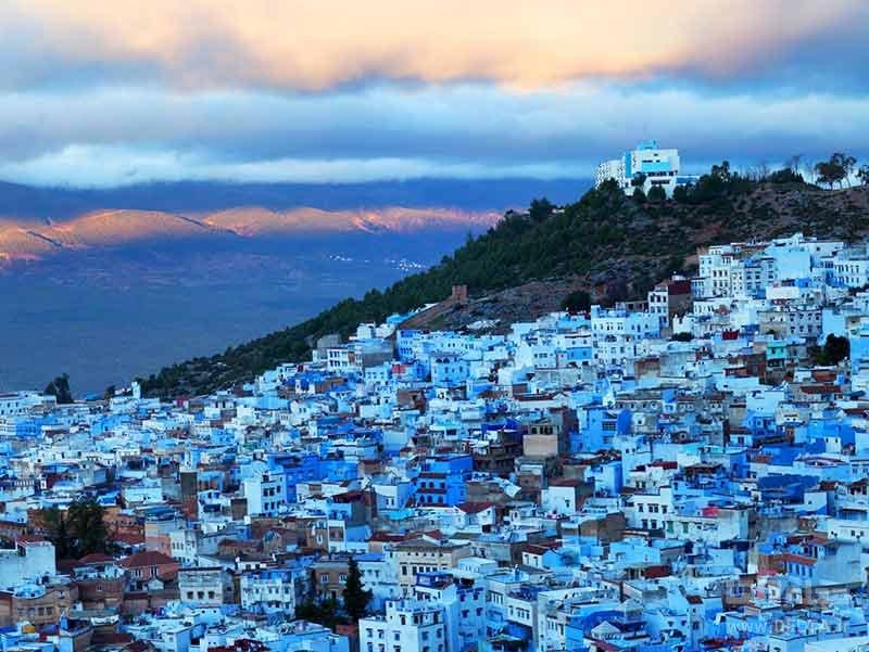 شهر آبی شفشاون در مراکش