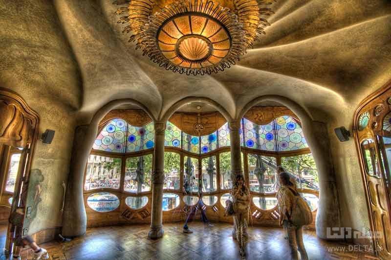 خانه استخوانی بارسلونا اثر آنتونی گائودی