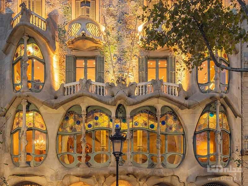 خانه استخوانی بارسلونا یکی از آثار جهانی
