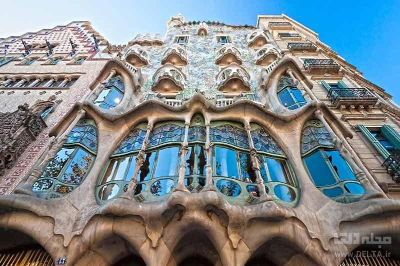 خانه استخوانی بارسلونا شاهکار معماری