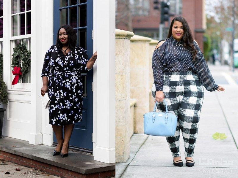 چاقی و صحیح لباس پوشیدن طرحدار