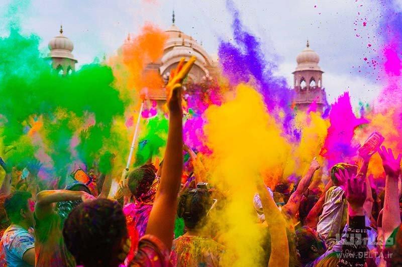 مراسم هولی هند