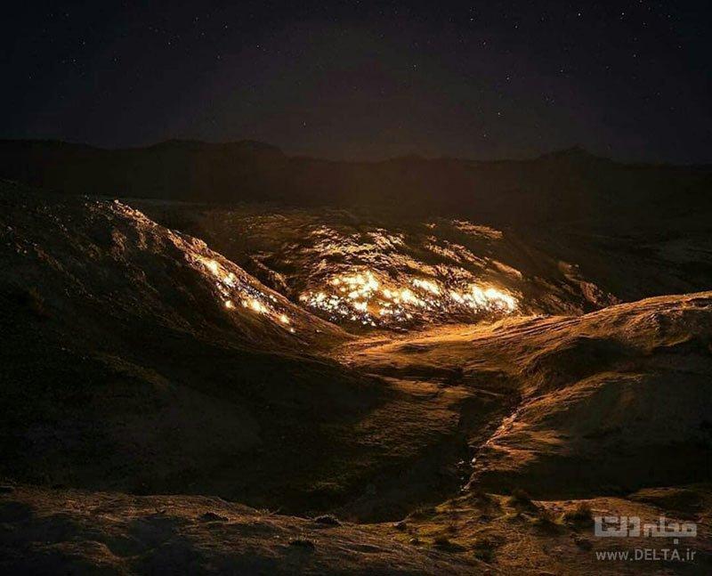 آتش جاودان کوه آتشین رامهرمز در گنبد لران