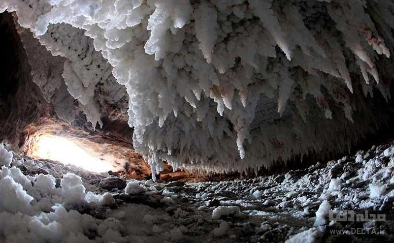موقعیت جغرافیایی غار نمکدان در قشم
