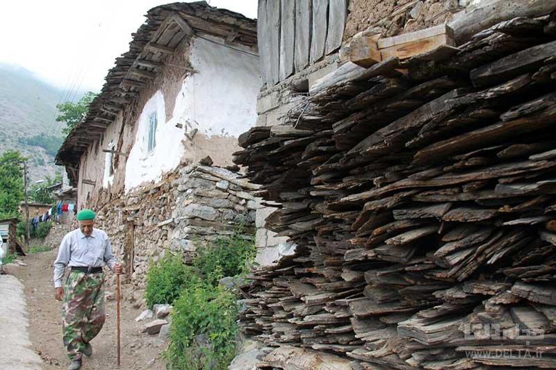 خانه های کاهگلی روستای ناتر در چالوس