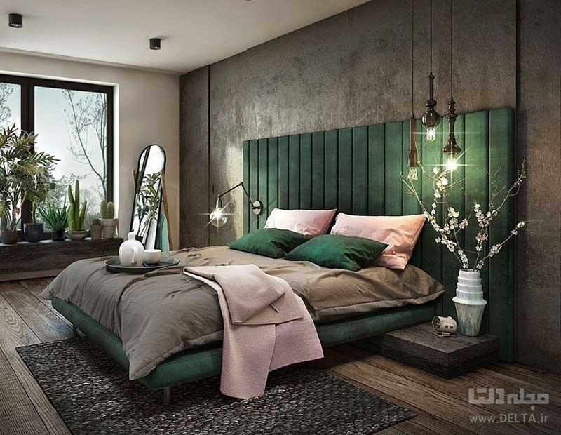جای تخت در اتاق خواب