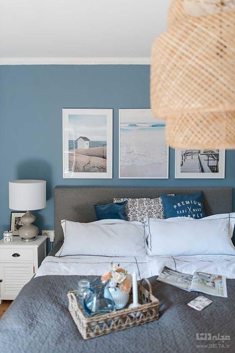 رنگ آبی اتاق خواب