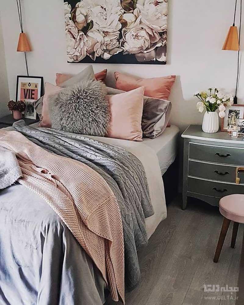 دکوراسیون اتاق خواب صورتی
