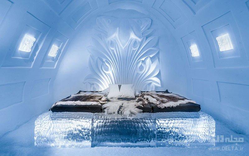 تجهیزات و تزئینات هتل یخی سوئد