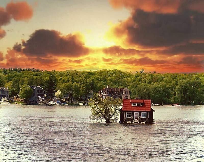 کوچکترین جزیره جهان ، جزیره جاست روم ایناف