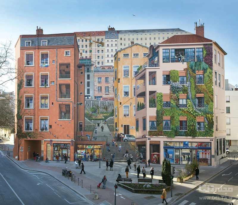 ایده نقاشیهای شهر لیون در فرانسه از کجا آمده؟
