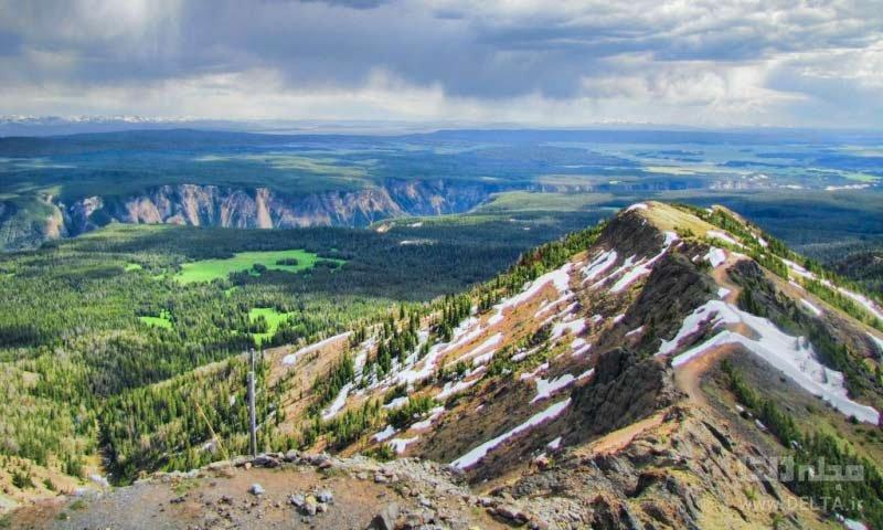کوه واش برن در پارک ملی یلواستون