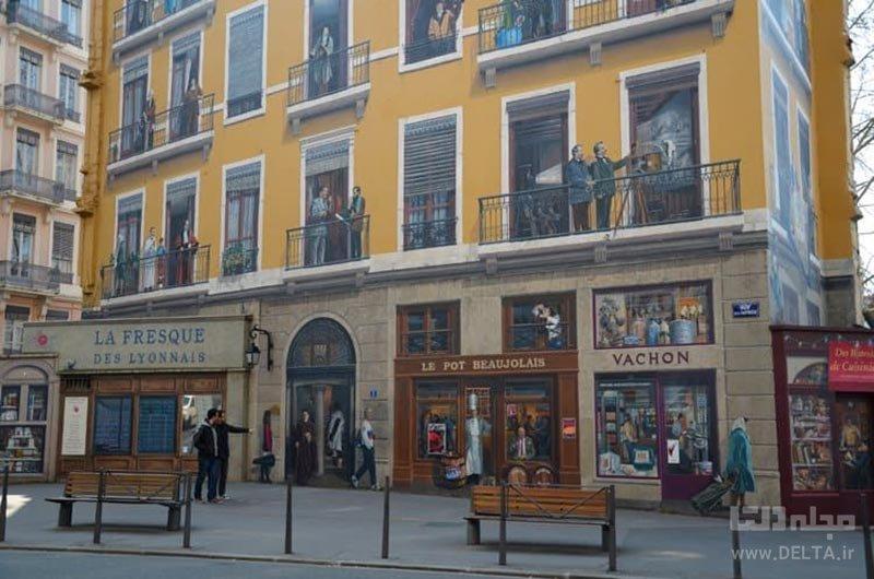 نقاشی های شهر لیون در فرانسه