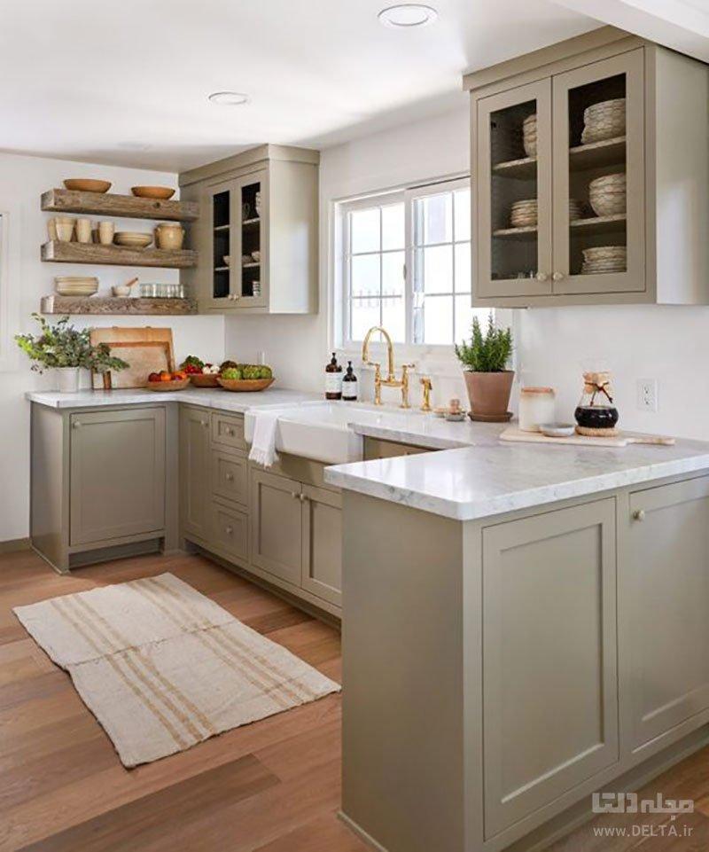 دکوراسیون آشپزخانه با سقف کوتاه