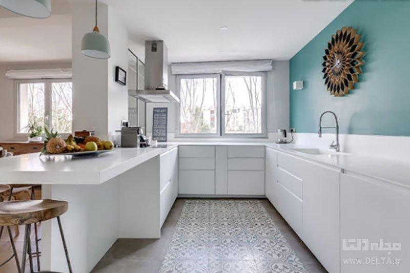رنگ آمیزی دیوار آشپزخانه