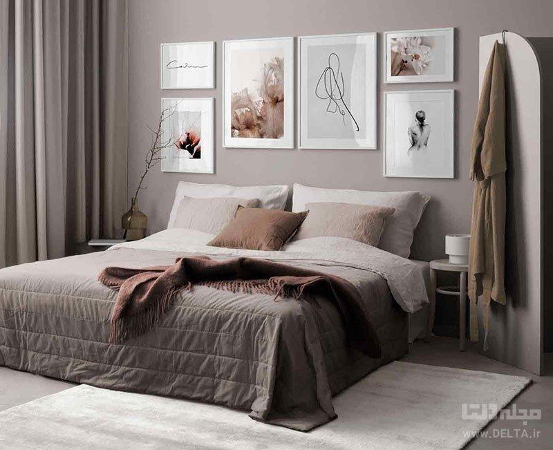 تابلو در اتاق خواب