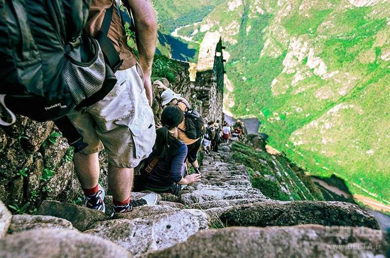 پلکان مرگ در پرو از خطرناک ترین گذرگاه های دنیا