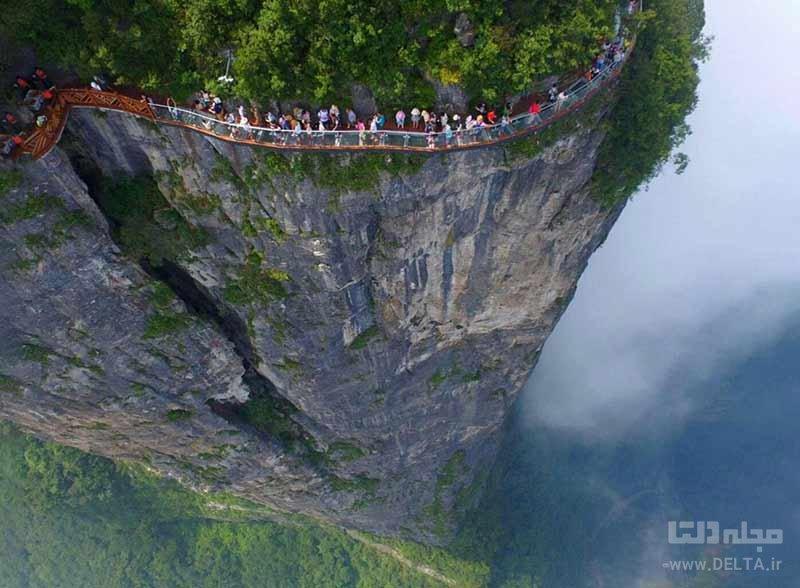 دروازه بهشت در چین از خطرناک ترین گذرگاه های دنیا