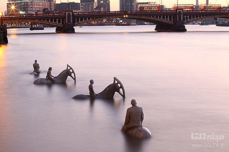 مجسمههای رودخانه تایمز در انگلستان، از جاذبه هایی که ناپدید می شوند
