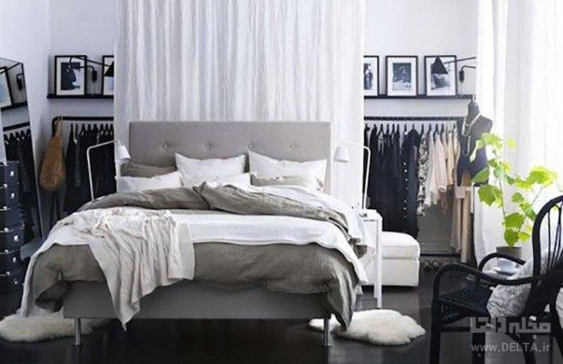 اتاق خواب بدون کمد