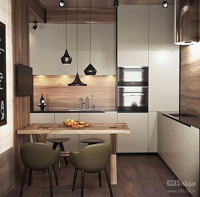 پوششهای چوبی برای دیوارهای آشپزخانه